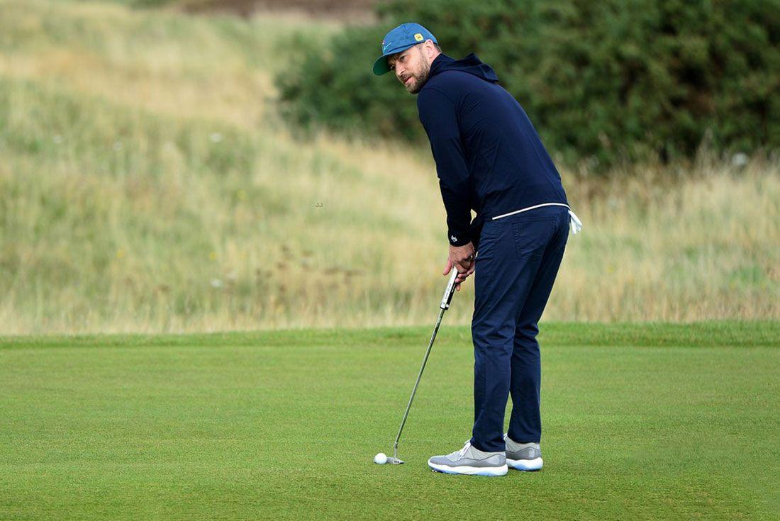 Justin Timberlake Playing Golf In Scotland 17
