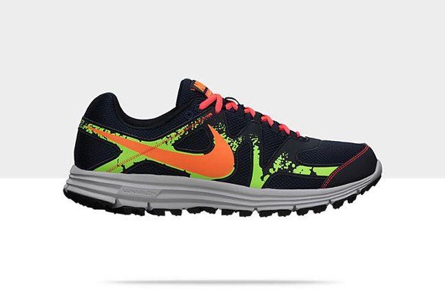 Nike Lunarfly 3 Trail Obsidian Orange Green 1
