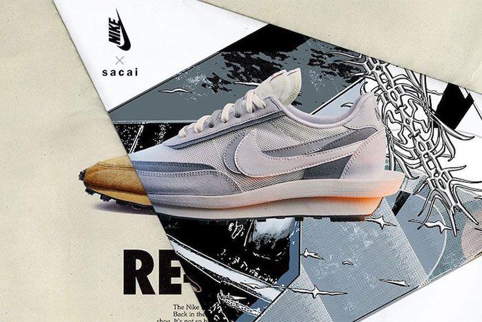 Sacai Nike Ld Waffle White Left