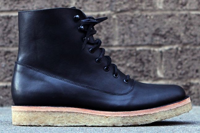Fieg Caminando Office Boots Black Profile 1
