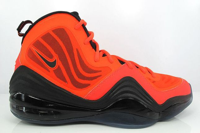 Nike Air Penny V Crimson Black Side Profile 1