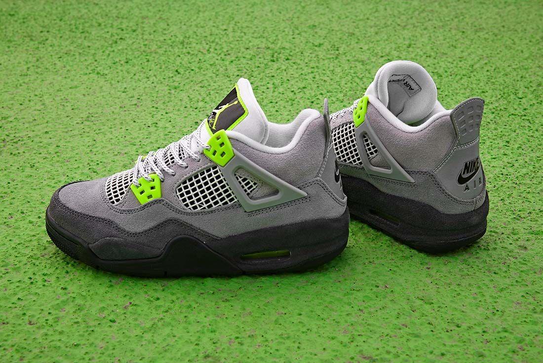 Jd Sports Air Jordan 4 Neon Gs Side