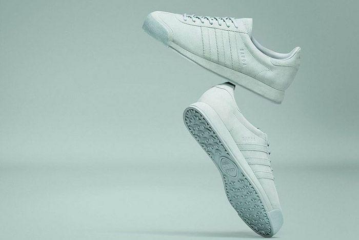 Adidas Samoa Pigskin Suede Light Grey 1
