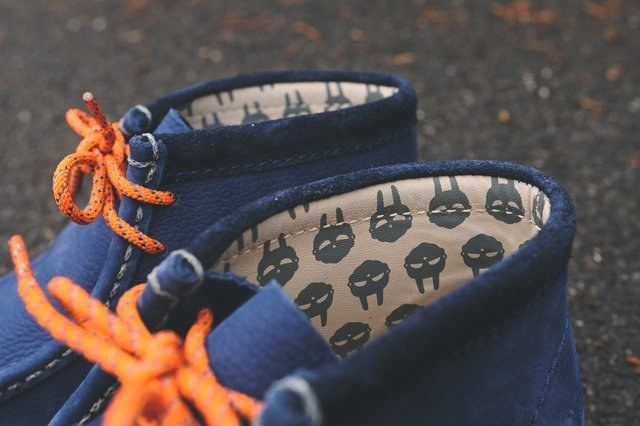 Mf Doom X Clarks Wallabee Boot Navy 5