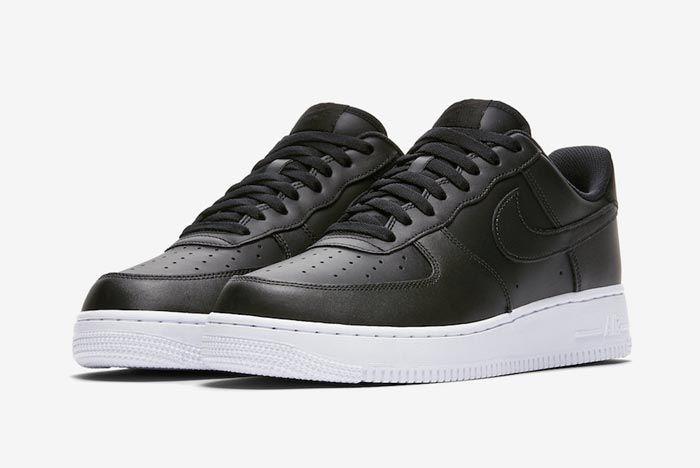 Nike Air Force 1 Low Black White Pair