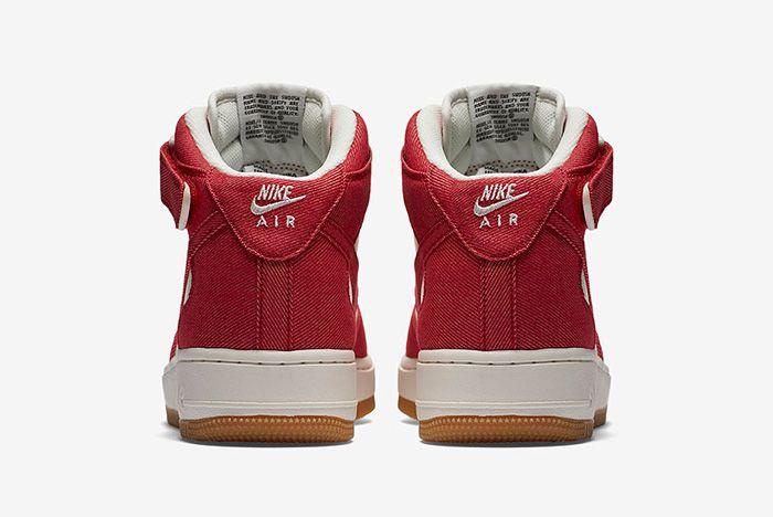 Nike Air Force 1 Red Denim 6