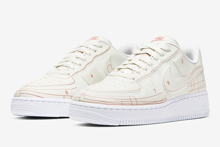 Nike Air Force 1 Low Schematic White Front Full