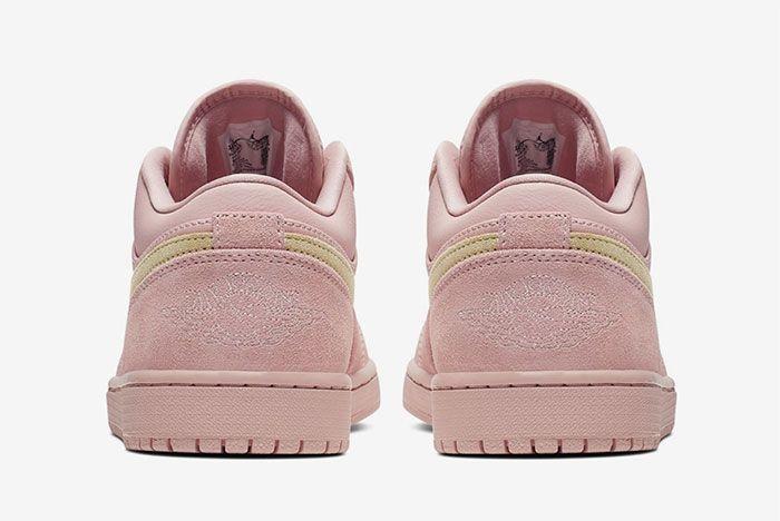 Air Jordan 1 Low Coral Gold Heel