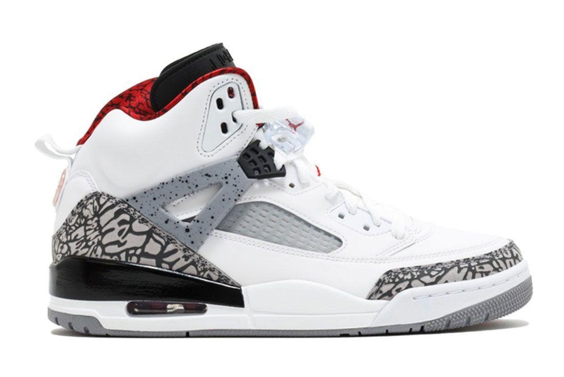 Air Jordan Spizike White Cement Lateral Side Shot