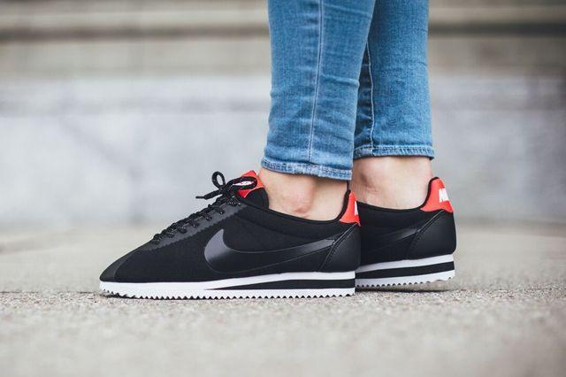 Nike Cortez Tech Fleece Black Black Red 3