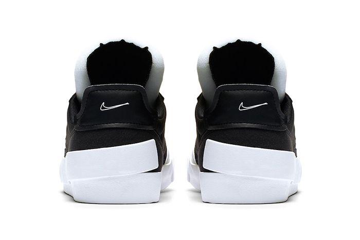Nike Drop Type Lx Black White Av6697 003 Release Date Heel