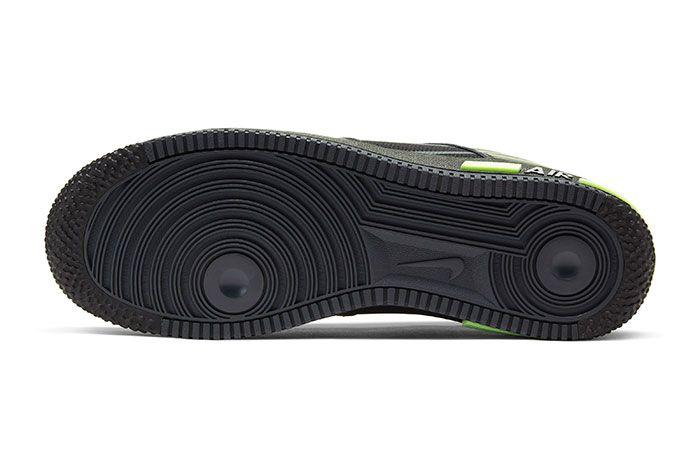 Nike Air Force 1 React Black Sole
