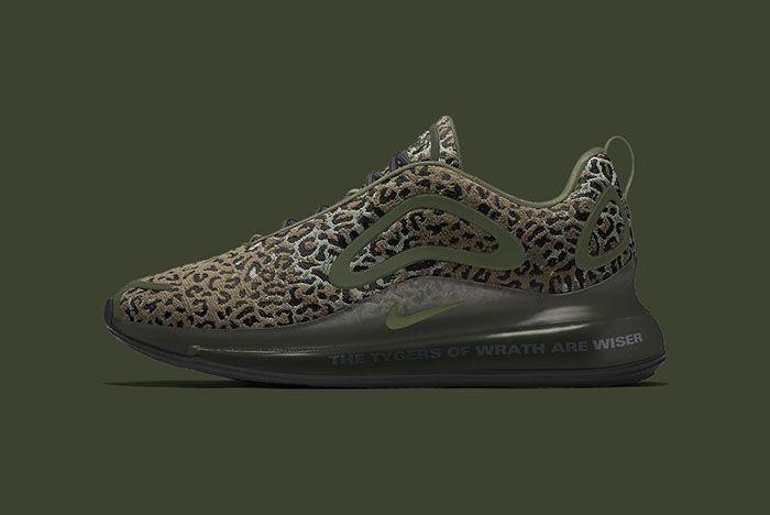 Maharishi Nike Air Max 720 By You Leopard Camo Bq7699 991 Dark Olive