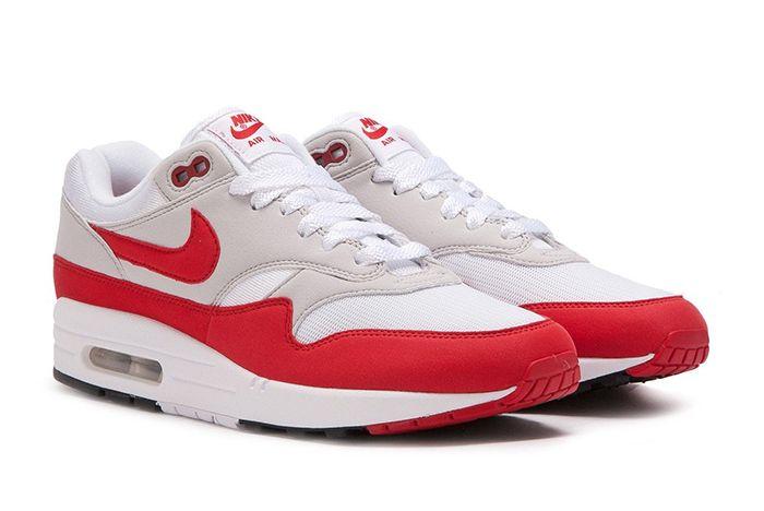 Nike Air Max 1 Anniversary White Red Grey 2