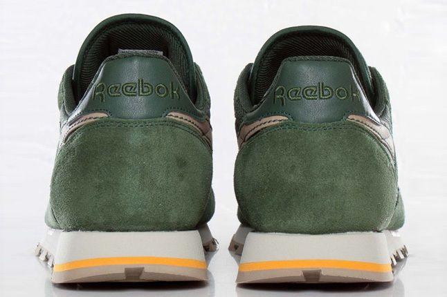 Reebok Classic Leather Utility Olive Green Heel Profile 1