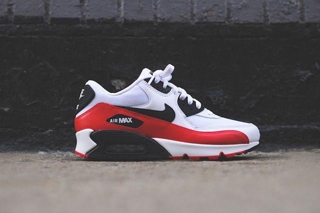 Nike Air Max 90 White Red Black 8