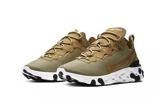 Nike Element React 55 Olive 2