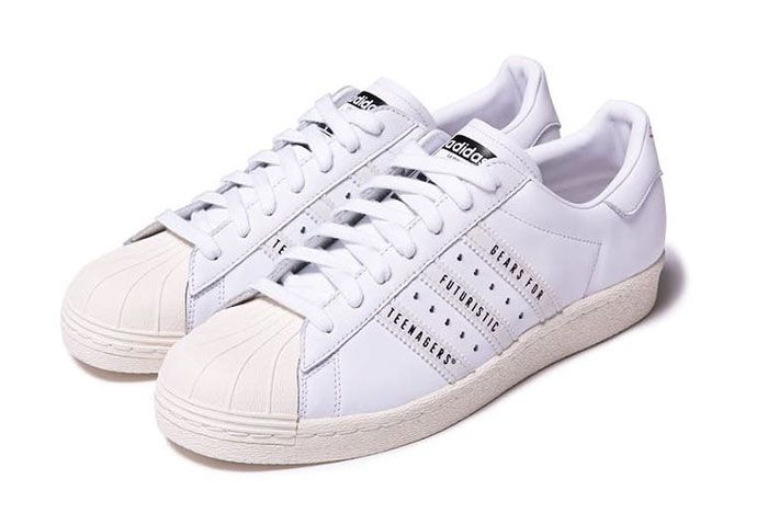 Human Made Adidas Superstar White Front Angle
