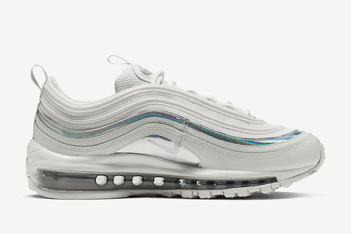 Nike Air Max 97 White Silver Iridescent Cj9706 100 Release Date Side4