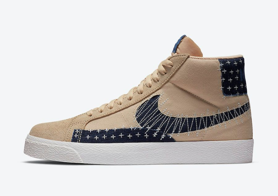 Nike SB Blazer Mid Sesame Left