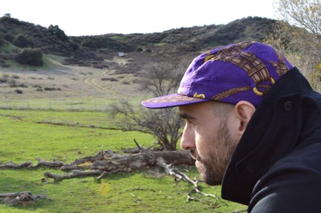 Skulls Silk Rl 5 Panel Purple 1
