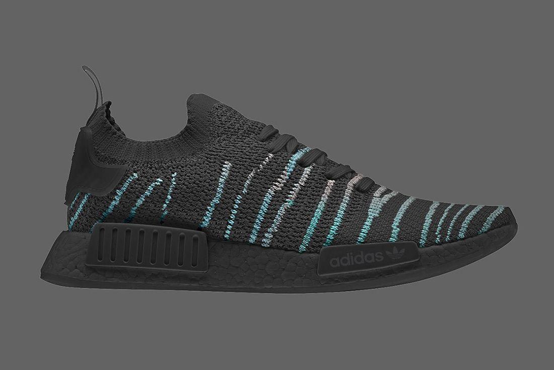 Parley X Adidas Nmd R1 Stlt Core Black Blue Spirit 2018 Sneaker Freaker