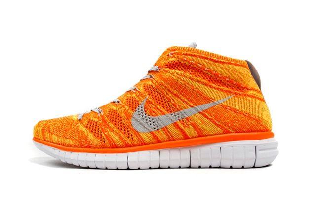 Nike Free Flyknit Chukka Orange Volt 4