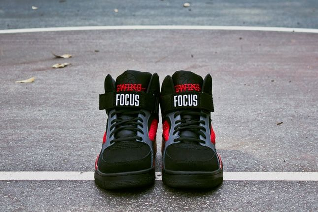 Ewing Athletics Foucs Blk Red Tongue Profile 1