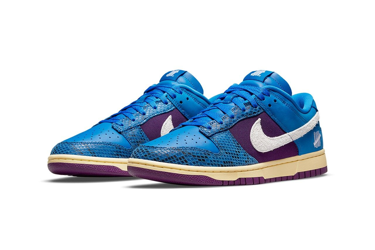 UNDEFEATED x Nike Dunk Low 'Royal/Purple' From 'Dunk vs AF-1' Pack
