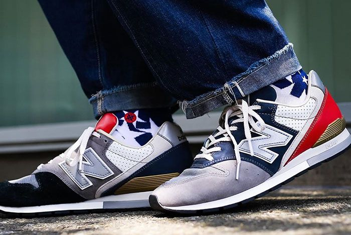 New Balance 996 Assymetrical On Foot
