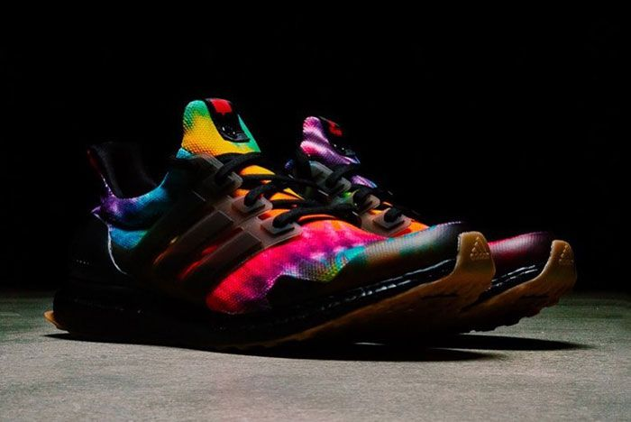 Nice Kicks Adidas Ultra Boost Woodstock Black Tie Dye Right