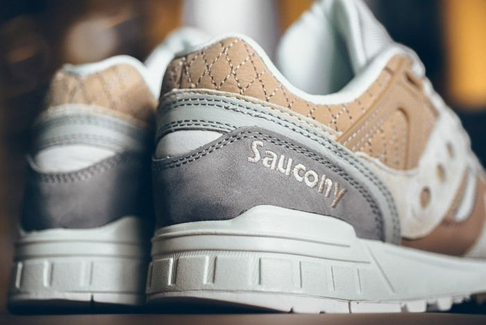 Saucony Grid Sd Quilted Tan Grey 06