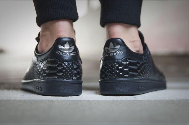 Adidas Original Stan Smith Black Reptile 6