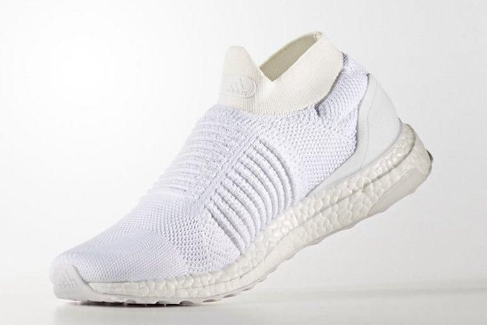 Adidas Ultra Boost Laceless White Beige