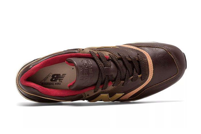 New Balance Made In Usa 997 Brown And Tan Above Shot