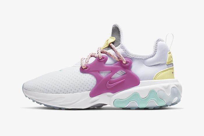 Nike React Presto Luminous Green Bleached Coral Lateral
