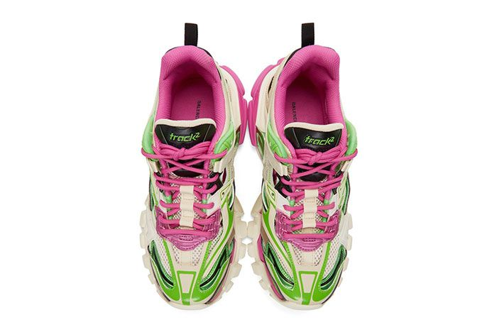 Balenciaga Track 2 Pink Green Top