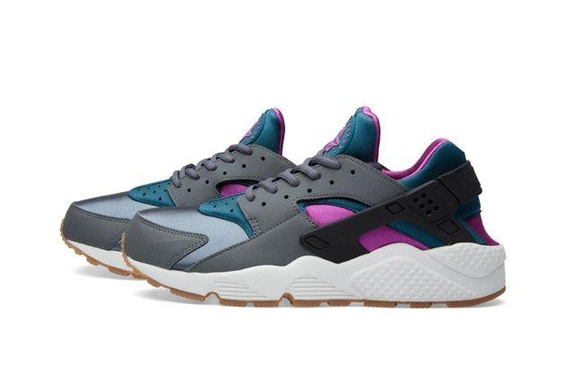 Nike Huarache Dark Grey Teal Bumper 2