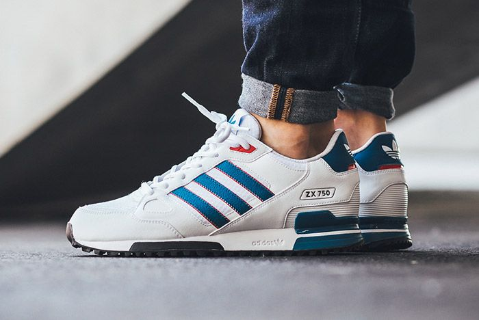 Adidas Zx 750 White Blue Red 3
