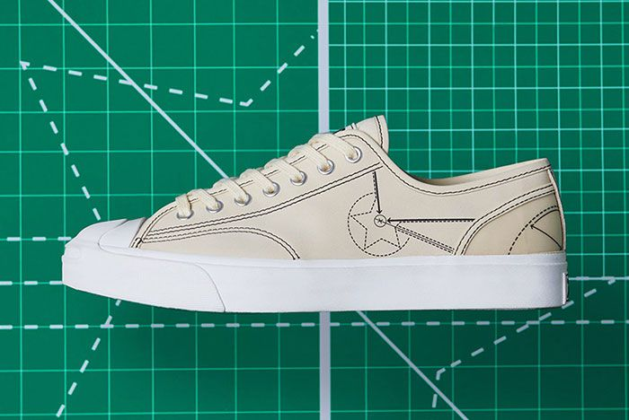End Converse Blueprint Pack Chuck 70 Jack Purcell Natural Ivory Lateral Side Shot