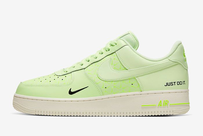 Nike Air Force 1 Low Neon Yellow Ct2541 700 Lateral