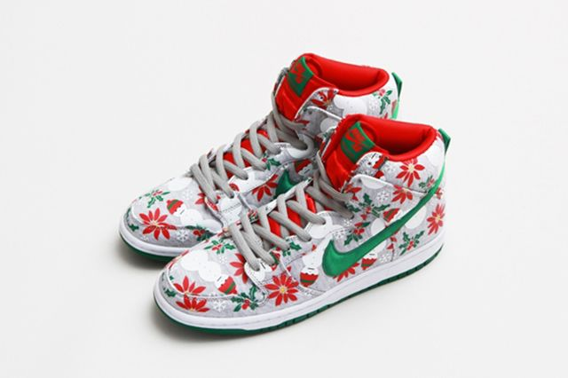 Concepts Nike Sb Dunk High Ugly Christmas Sweater 7