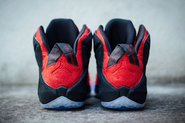 Nike Le Bron 12 Red Paisley 3