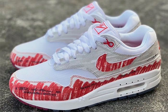 Air Max 1 Tinker Hatfield Sketch Left