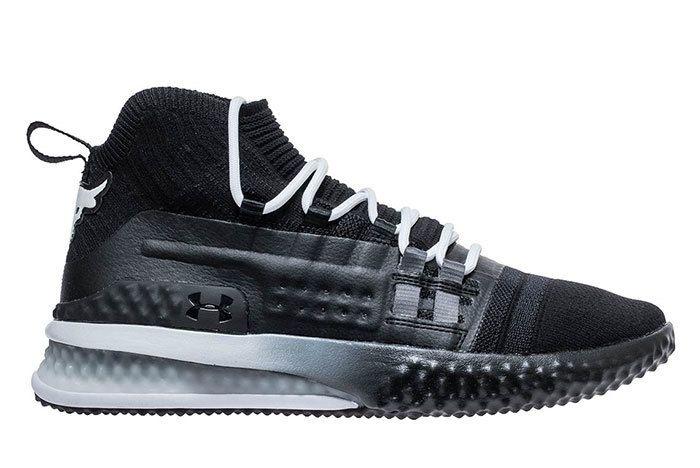 Ua Project Rock 1 Black White 2 Sneaker Freaker