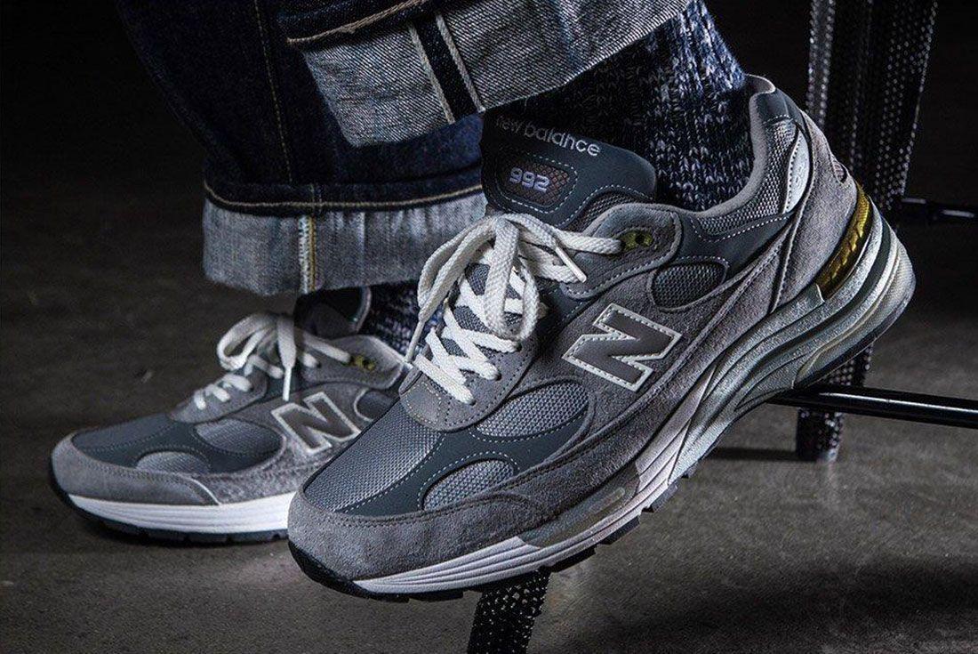 New Balance 992 Grey On Foot