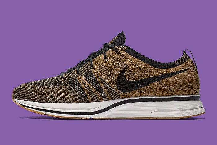 Nike Flyknit Trainer Golden Beige Brown 1