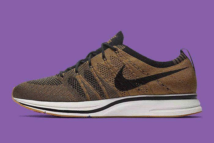 Nike Flyknit Trainer Golden Beige Brown 1