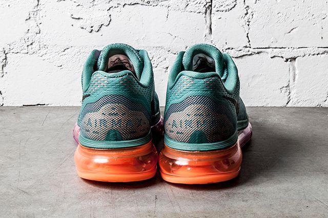 Nike Air Max 2014 Wmns Atomic Orange Bright Magenta Forrest Green 5