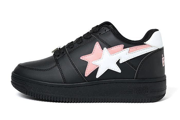 Bape Sta Low Double Star Black